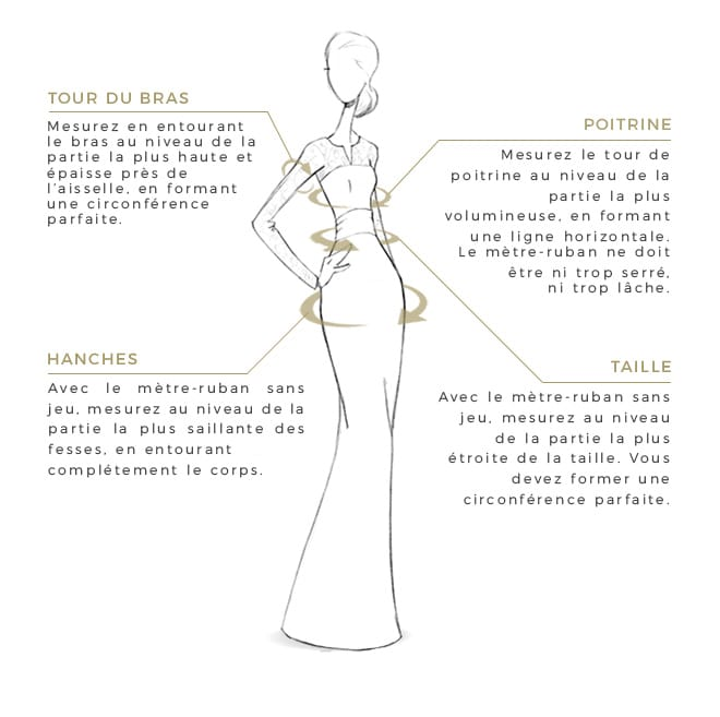 guide des tailles robes