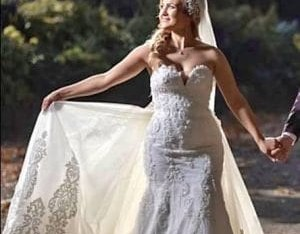 Superbe robe sirène taille 38/40