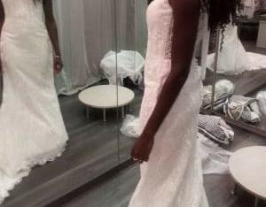 Robe de mariée sirène 34/36