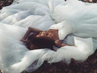 Robe princesse perles et paillettes