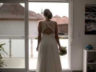 Magnifique robe Création Bochet, taille 38/40