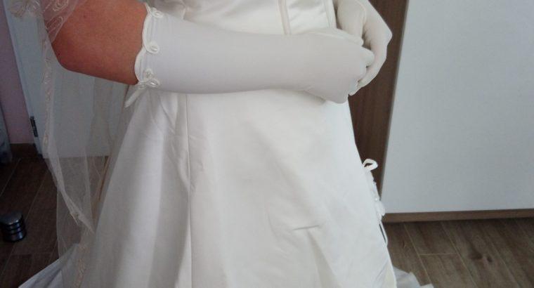 Vend belle robe de mariée Ivoire et champagne, jupe et bustier