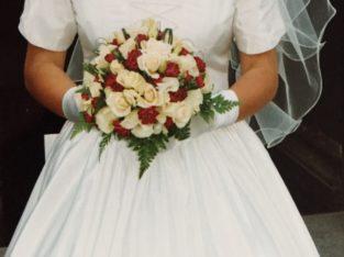 Robe de mariée 100% soie