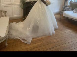 robe de mariée princesse et champêtre