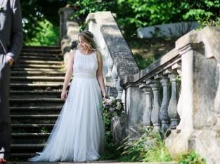 Magnifique robe de mariage de style bohème