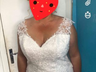 Robe de mariée avec traine
