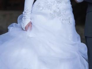 Robe de mariée et son voile