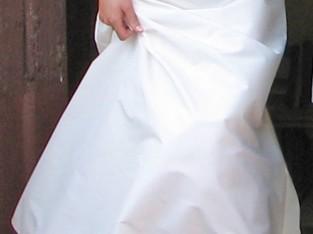 Robe de mariée longue 2 pièces.